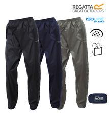 Regatta Mens Womens Waterproof Breathable Packaway Packable Pack It Overtrousers