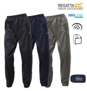 Regatta Waterproof Breathable Rain Over Trousers Packaway Packable Pac In A Bag