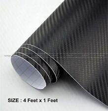 3D Carbon Fiber BLACK Twill-Weave Matte Design Decal Vinyl Film 48 x 12 Inches