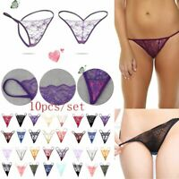 Seamless Underpants Thong G-String Lace Panties Sexy Lingerie Low Waist Briefs
