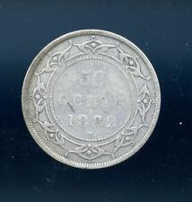 1882 H Newfoundland 50 Cents VG MP669