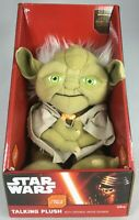 WALT DISNEY STAR WARS TALKING JEDI MASTER YODA TALKING PLUSH SQUEEZE TO TALK NEW