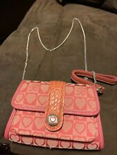 Brand New Brighton Pink Cloth Purse With Chain