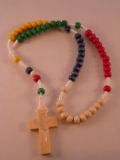 Missionary Rosary ~ Corded ~ Oval Wood Beads