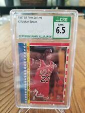 1987-88 Fleer Sticker Michael Jordan #2 CSG 6.5 EX-NM+ Rare 2nd Year PSA Invest