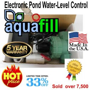 AquaFill Electronic Auto Water Level Float Valve-Pond,Fountain,Pool,Spa,HotTub