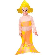 Girls Bubble Guppies Deema Mermaid Halloween Costume Dress Headpiece Child S