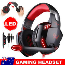 3.5mm Gaming Headset Mic LED Headphones for PC Mac Laptop Ps4 Xbox One 360
