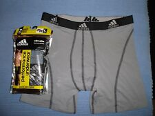 "ADIDAS Lot of 2 Men's Stretch CLIMALite SPORT Boxer Briefs sz L 5"" inseam NWT"