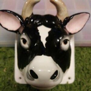 Vintage cow Bull Towel Holder