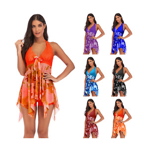 Women's Plus Size Floral Tankini Swim Dress Swimsuit Swimwear Bathing Suit 2X-5X