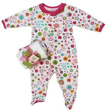 NWT Maison Chic Baby Girl Size 0-3 Months Footie and Double Burpee 3PC Gift Set