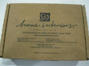 Home Interior New In Box Set of 12 Voitives Cranberry Compote scent