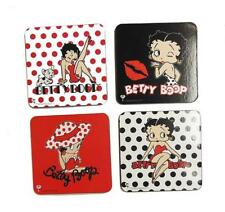 Betty Boop Coaster 4 Pack Assorted Polka Dot Design Drink Coasters