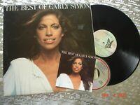 "Carly Simon – The Best Of Carly Simon""   Vintage LP w/CD  Elektra – 6E-109"