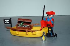 """Playmobil """"Pirate on a boat"""" 1979/80 (3370)"""