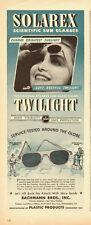 1944 WW2 era ad, SOLAREX 'Twilight' Sun Glasses  -042514