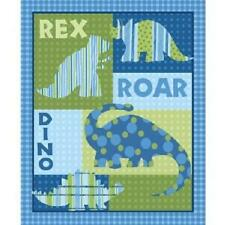 Dino Roars Flannel Quilting Fabric (Dinosaur) - 90cm x 110cm