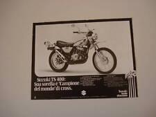 advertising Pubblicità 1975 MOTO SUZUKI TS 400