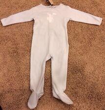NWT! Burberry Baby Boy Infant Felix Bodysuit Footie One Piece Blue Size 9m $120