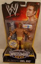 WWE Mattel - TRU Exclusive Wrestlemania 27 XXVII Alberto Del Rio With Stand MOC