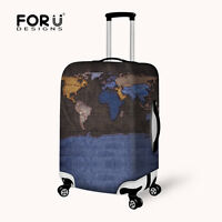 Washable Foldable Luggage Cover Protector Fits 18-21Inch Suitcase Covers Colored Giraffe