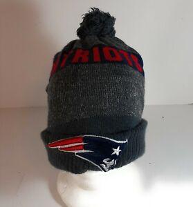 ERA NFL New England Patriots On field Sideline Beanie Winter Knit Cap Hat Gray