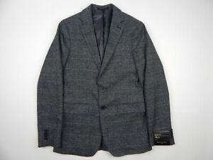 Banana Republic Factory Grey Glen Plaid Sportcoat Blazer Men's 36 R Slim Fit new