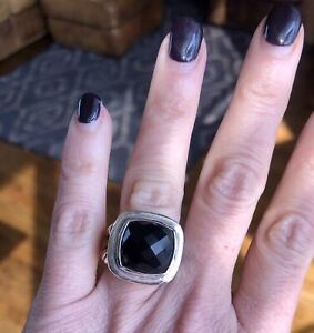 David Yurman 14mm Onyx Albion Ring Sz 5