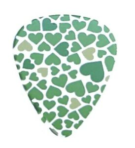 12 Pack HEART Picks Green Lime Yellow Hearts Love Valentine Happy Medium Gauge