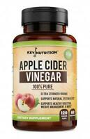 Key Nutrition- 100% Pure Raw Apple Cider Vinegar_120 Caps-1500 mg_Exp 02/28/2022