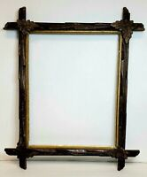 Vintage Adirondack Black Forest Eastlake Leaf Tramp Art Leaf Picture Frame 14x11
