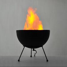 Modern Black Tripod Artificial Silk Flame  LED Fire Effect Table Light Lamp NEW