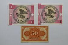 Russia 50 Kopeks 1919 Orange Au/Unc + 2 Other Banknotes Unc B27 Blei - 210
