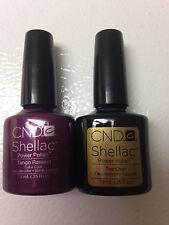 Creative CND Nail Shellac ~ Tango Passion & Top Coat DUO Gel Polish  NO BOX !!