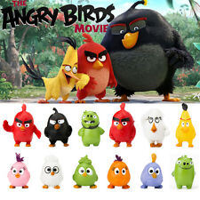 12 PCS Angry Birds Cartoon Movie Action Figures 3-5cm PVC  Kids Gift Toys US
