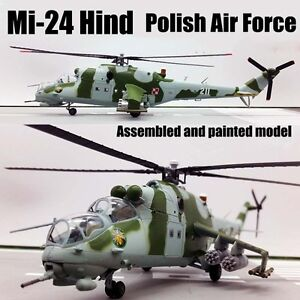 Poland air force Mil Mi-24 hind helicopter 1/72 no diecast plane Easy model