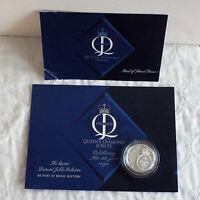 ALDERNEY 2012 DIAMOND JUBILEE SILVER PROOF £5 CROWN - card pres pack