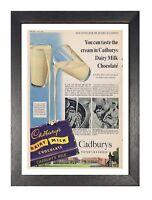 Cadbury Garden Vintage Advert Print Retro Picture Dairy Milk Chocolate Poster