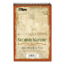 """TOPS Second Nature Spiral Reporter/Steno Notebook, Gregg Rule, 6 x 9, 80 Sheet"""
