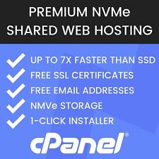 Superfast Unlimited NVMe Web Hosting, cPanel, Free SSL, Free Email & Backups