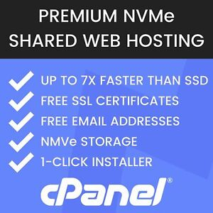 1 Year Unlimited Fast NVMe Web Hosting, cPanel, Free SSL, Free Email & Backups