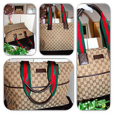 STYLISH GUCCI EXTRA LARGE GG MONOGRAM DIAPER BAG W/PAD TOTE/HANDBAG!