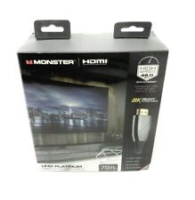 Monster WHV11011BLK UHD Platinum Fiber Optic HDMI Cable 75ft  NEW Factory Sealed