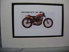 1980 Harley Davidson XR750  Motorcycle Exhibit Celebration artist Illustrated
