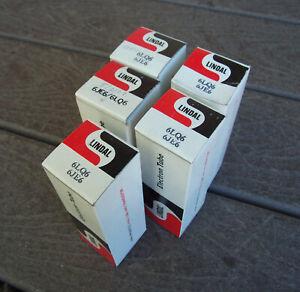 5 Lindal NOS NIB 6LQ6 6JE6 Beam Power Tubes Japan 1978