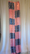USA Flag Stars Stripes Red White Blue Scarf Silk Feel 4th Fourth of July