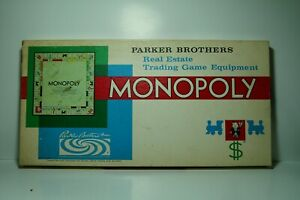 Vintage 1961 Monopoly Board Game By Parker Brothers Complete