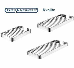Euroshowers Kvalite Brass Chrome Wall Mounted Shower Shelf Storage Caddy