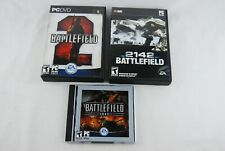 Battlefield Game Lot All in Cases, Battlefield 2, 1942, & 2142 - USED